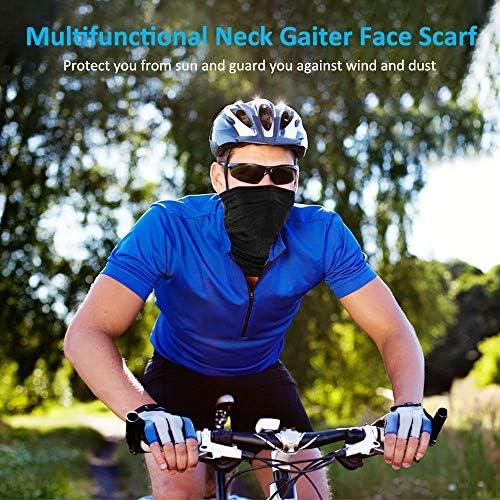 Vintoney Braga de Cuello Moto Unisex Bandana Multifunci/ón Deportiva Pa/ñuelo de Cabeza Hombre Mujer Verano Senderismo Ciclismo Correr Aire Libre Negro