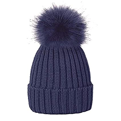 Supply Baby Girls Boys Winter Cap Gorros Warm Fur Pompom Hats For Kids 2017 Wool Knitted Skullies Beanies Children Pom Pom Hat Bonnet Hats & Caps