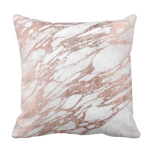 Popular Presents Chic Elegant White And Rose Gold Marble