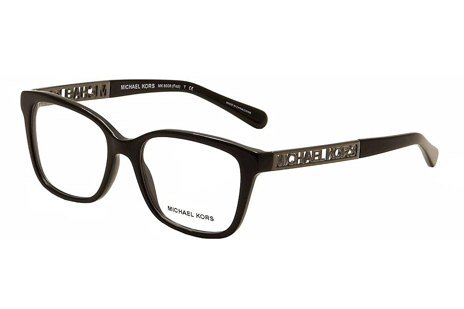 michael kors foz mk8008 eyeglass frames 3005 52 black at amazon womens clothing store - Mk Glasses Frames