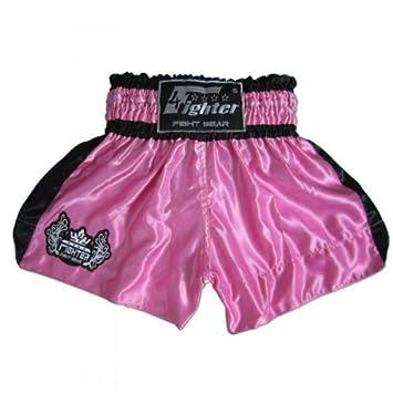 4Fighter Muay Thai Shorts Classic black Tribal Logo on leg