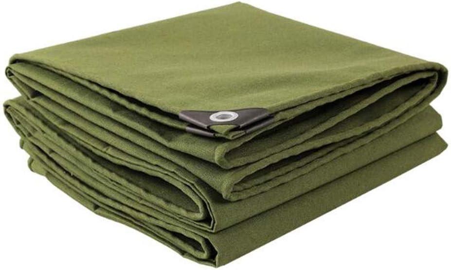DALL ターポリン 厚くする キャンバス 多目的 アウトドア 防水 雨の布 日焼け止め 防塵 防風 引裂抵抗 (Color : 緑, Size : 5×6m) 緑 5×6m