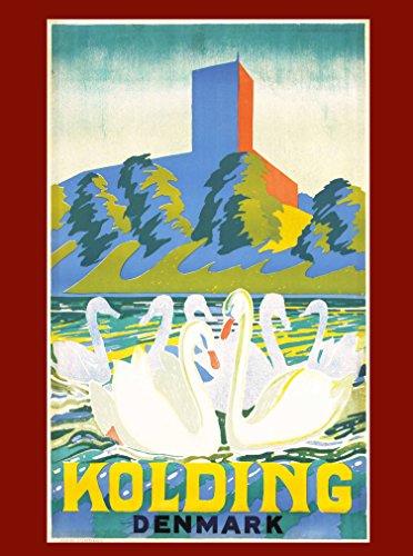 vintage travel poster denmark