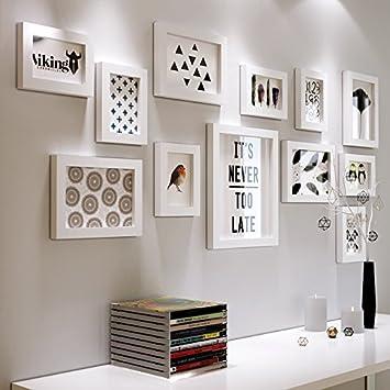 Bilderrahmen - kreative Foto Schwarz und Weiß aus Holz im ...