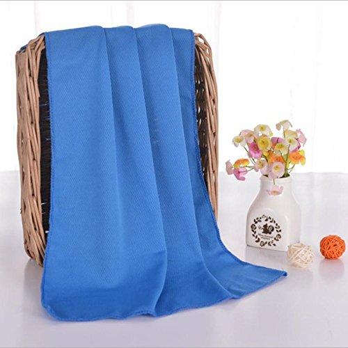 Serviette Rafraîchissante Bleue pour Sports et Fitness