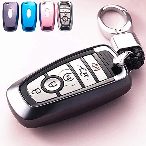 [해외]포드 퓨전 F150 F150 F250 F350 F450 F550 F550 F550 에지 탐색기 탈출 무스탕 원격 키리스 항목 (블랙)와 호환 키 체인 포드 키 커버 Fob 쉘 케이스 TPU 프로텍터 홀더에 대한 모페이 / Mofei for Ford Key Cover Fob Shell Case TPU Protector Hol...