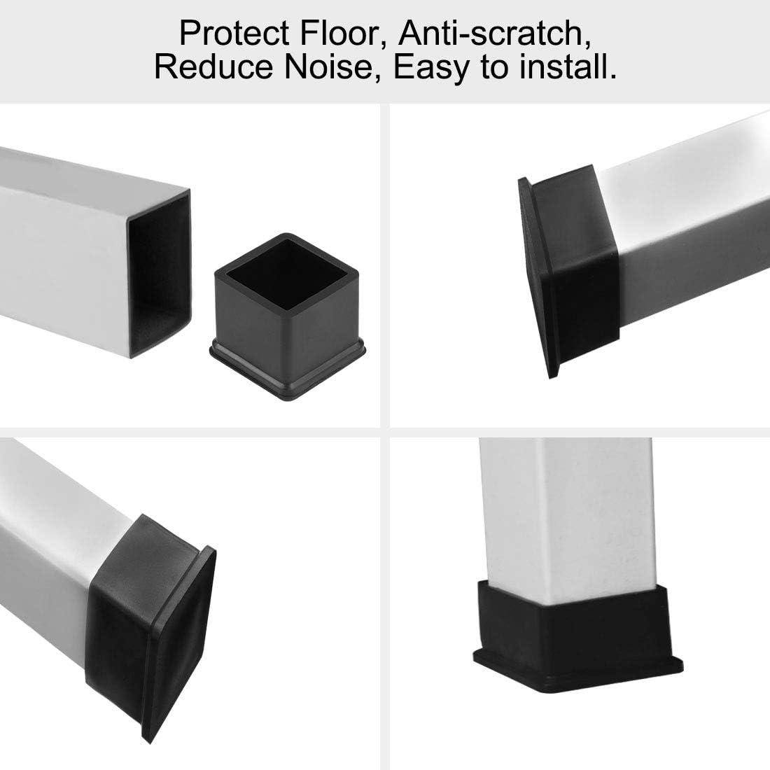 Sourcing map Couvre-pieds carr/és en caoutchouc pour meubles de table