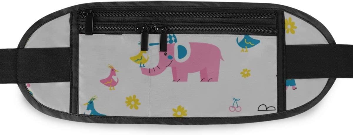 Cute Animals Kid Textile Nursery Running Lumbar Pack For Travel Outdoor Sports Walking Travel Waist Pack,travel Pocket With Adjustable Belt