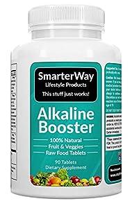 Smarterway | Alkaline Booster | Superfood + Probiotics | Whole Food Multivitamin Mega Blend | Brain Support | Immune System Support | Raw Alkalizing Vitamin for Men and Women | 90 Veggie Tablets