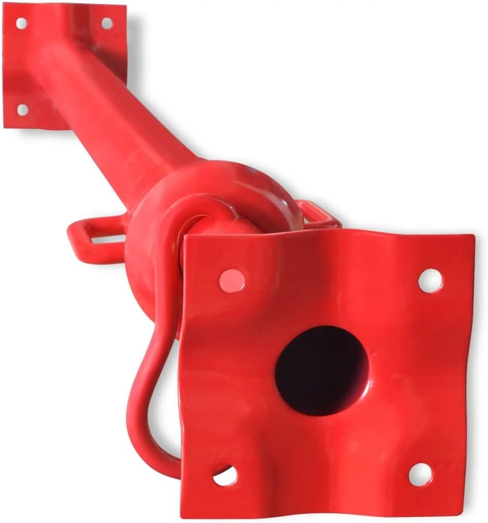 Nishore Stahl Bausprie/ß Stahlst/ütze Verstellbare H/öhe 130-180 cm Belastbar bis 300 kg Rot Stahl mit lackierter Oberfl/äche