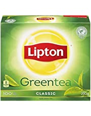 Lipton Green Tea for a refreshing and uplifting sensation 100% Rainforest Alliance Certified 100 tea bags