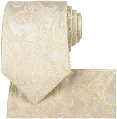 KissTies Mens Extra Long Tie Paisley Pattern Necktie + Gift Box (63'' XL)