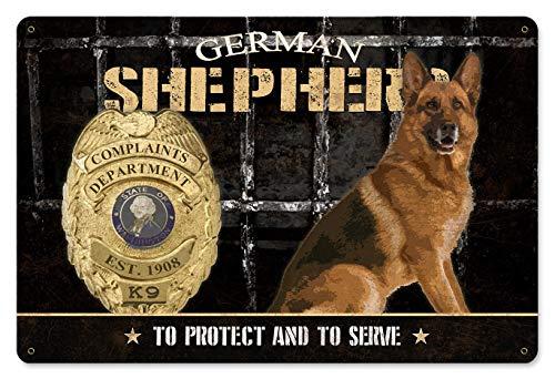 Complaint Department Wall - German Shepherd Complaints Department K-9 Police Dog Metal Sign, Wall Art, Wall Decor, 8