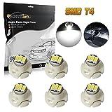 Partsam 6pcs T4 Neo Wedge White LED Bulb Light