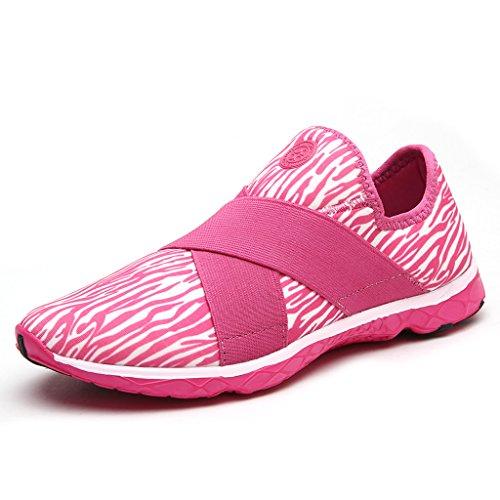 ALEADER Women's Mesh Slip on Water Shoes 9973 Pink