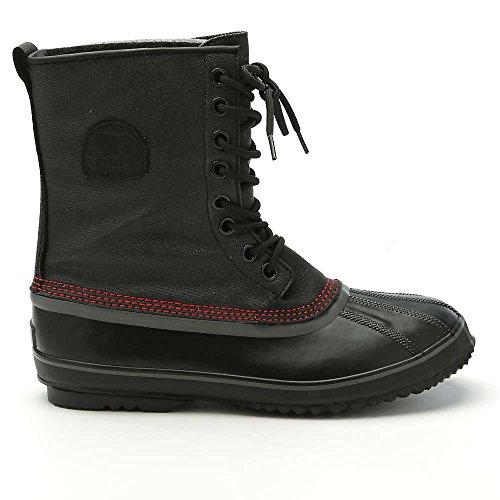 Sorel Men's 1964 Premium T CVS Snow Boot, Black, Sail Red, 1