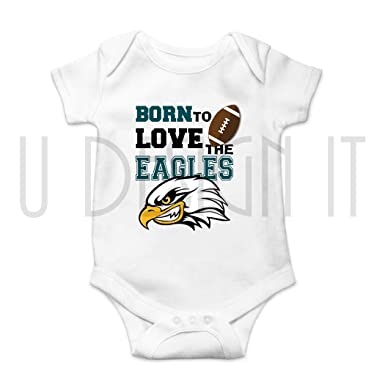 b11309d77 Amazon.com  Sports Onesie Eagles Football White  Clothing