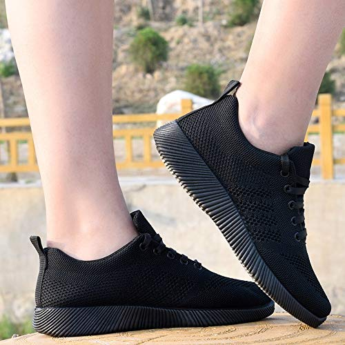Women Sports Casual Fly Shoes Black Hiking Gym Student Fitness Soft Ladies Look New Sneakers Outdoor Running wAA1qCgrn