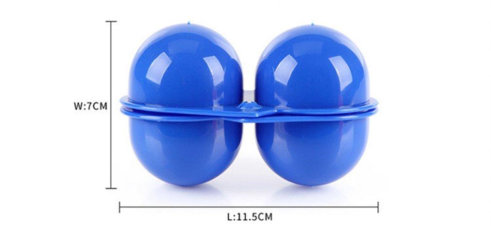 BrilliantDay Giardino Campeggio Plastica Pieghevole Valigetta 2 Portauova Custodia Da Viaggio Blu