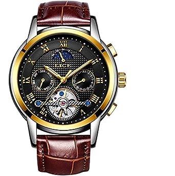 Herren Uhr Lige Automatik Armband 9851 Analog Mit Leder qSUMVpGz