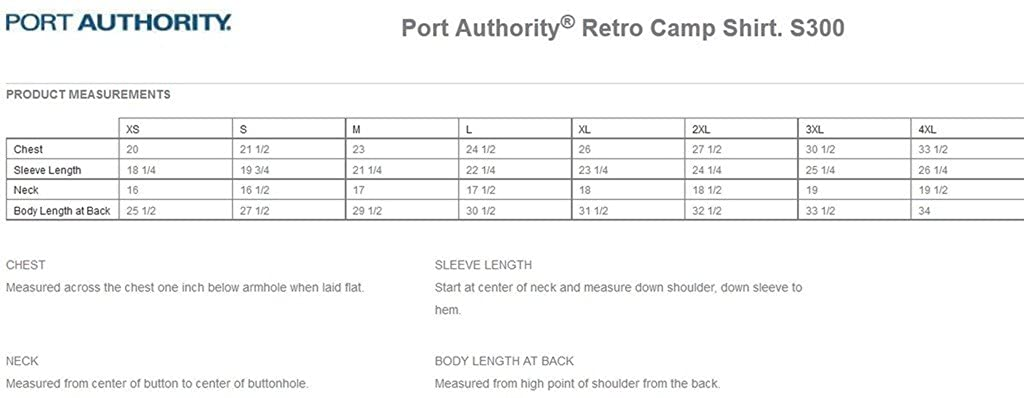 Port Authority Big Mens Retro Camp Shirt