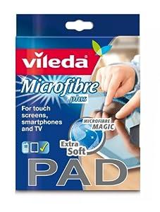 Vileda Microfaser Pad Tuch für besonders empfindliche Oberflächen, 2er Pack...