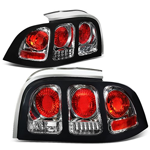 For Ford Mustang SN95 Pair of Chrome Housing Altezza Tail Brake Lights