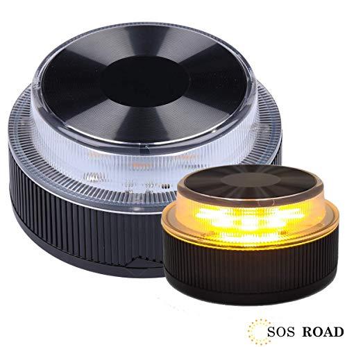 🥇 NK SOS Road- Báliza luz de Emergencia   Luz de Emergencia Autónoma   Luz LED   Señal V16 de Preseñalización de Peligro Homologada –