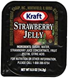 Kraft Strawberry Jelly, 0.5 oz. pack, Pack of 200