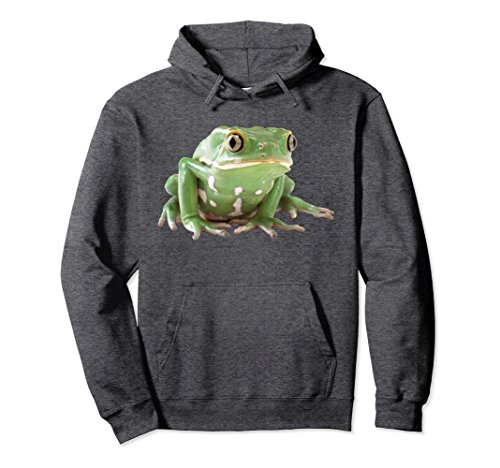 Tree Frog Sweatshirt - Unisex Frog Hoodie Sweatshirt Green Tree Frog Amphibian Pullover XL: Dark Heather