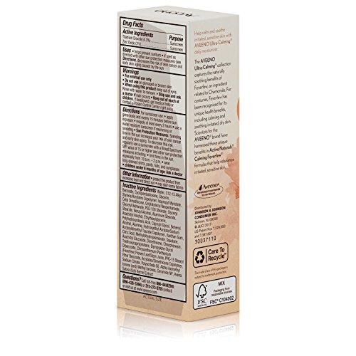 Aveeno Ultra-Calming Daily Fragrance-Free Moisturizer for Sensitive Skin with SPF 30, 2.3 fl. oz