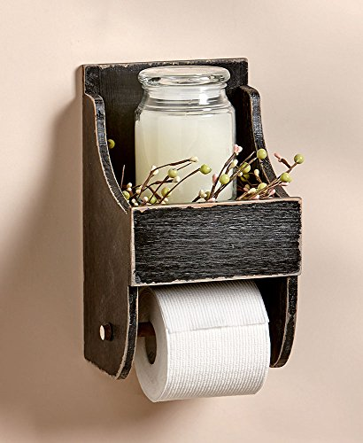 The Lakeside Collection Toilet Paper Holder with Shelf