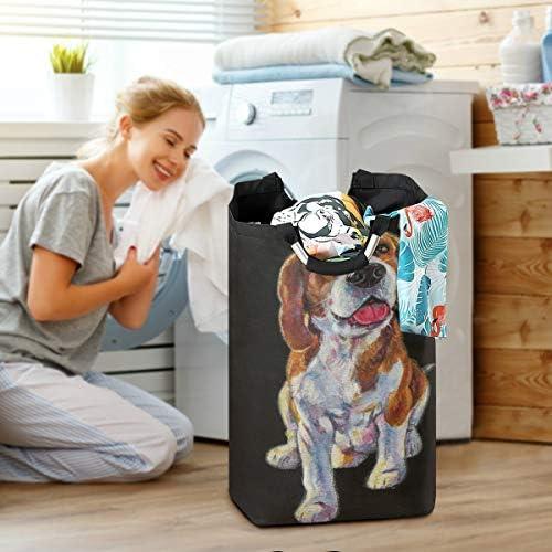 Lerous Panier à linge pliable avec poignées pour chien