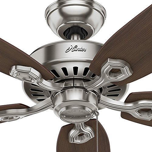 Hunter 53241 Builder Elite 52-inch Brushed Nickel Ceiling Fan with Five Brazilian Cherry/Harvest Mahogany Blades by Hunter Fan Company (Image #6)'