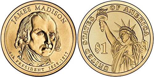2007 D James Madison, 25-coin Bankroll of Presidential Dollars Uncirculated ()