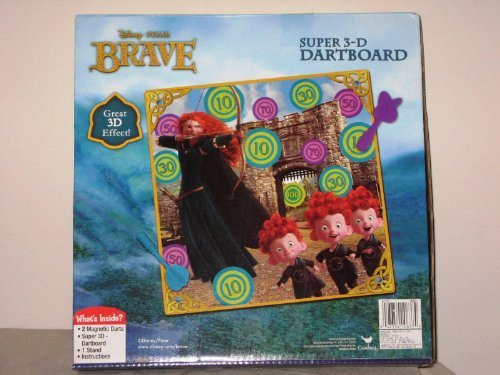 Disney Pixar Brave Super 3-d Dartboard New