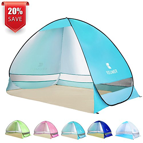BATTOP Pop Up Beach Tent Camping Sun Shelter Outdoor Automatic Cabana 2-3 Person Fishing Anti UV Beach Tent Beach Shelter, Sets up in Seconds (Beach Shelter)