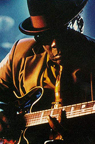 John Lee Hooker Iconic Blues Legend Playing Guitar Color 24x18 Poster ()
