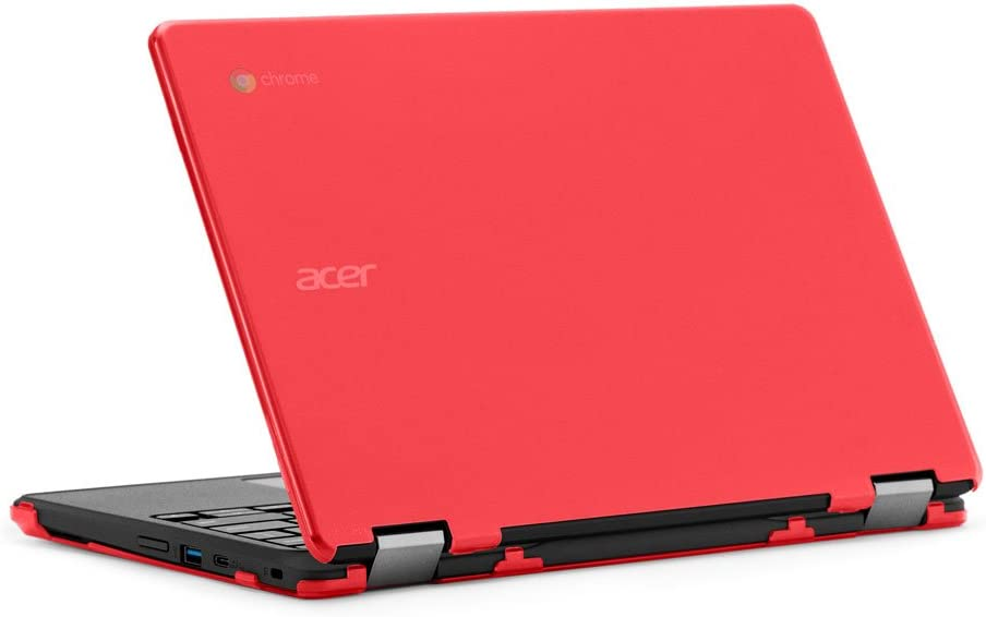 "mCover iPearl Hard Case for 11.6"" Acer Chromebook Spin 11 R751T CP311 CP511 Series (NOT Compatible with R11 CB5-132T / C738T, C720/C730/C740/CB3-111/CB3-131 Series) Convertible Laptop (Red)"