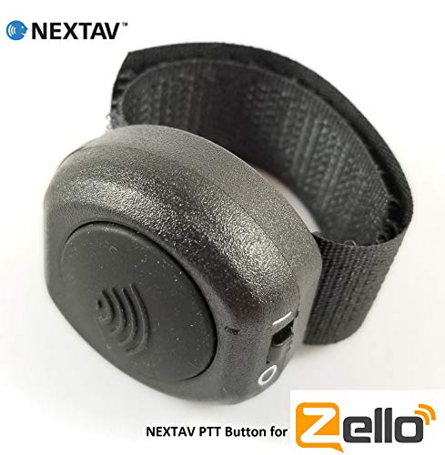 NEXTAV Wireless Bluetooth PTT Button for Zello Walkie Talkie App for iOS iPhone iPad with Fastener Strap (NX-U2i)