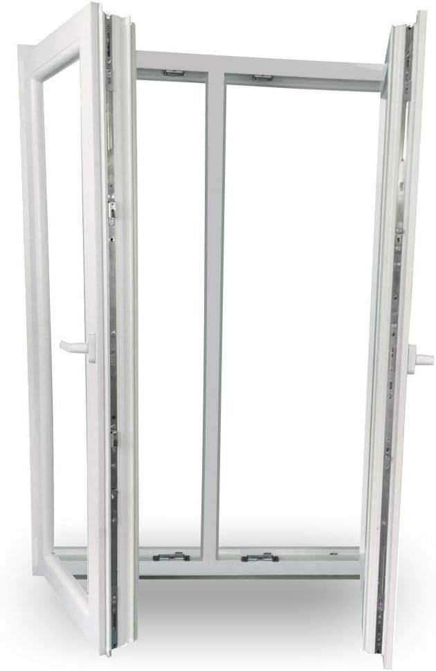 Sonderma/ße m/öglich 2 fl/ügelig mit Pfosten BxH: 1300x1700-3-fach-Verglasung JeCo Fenster Kunststofffenster Wohnraumfenster 70 mm Profil