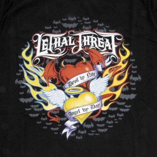 (Lethal Threat (LT20143XL Men's Angel Devil Hearts T-Shirt (Black, X-Large))