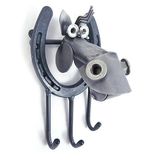 Yardbirds Horse - Lucky Moose and Horseshoe Key Holder, Utility Hook, or Leash Holder