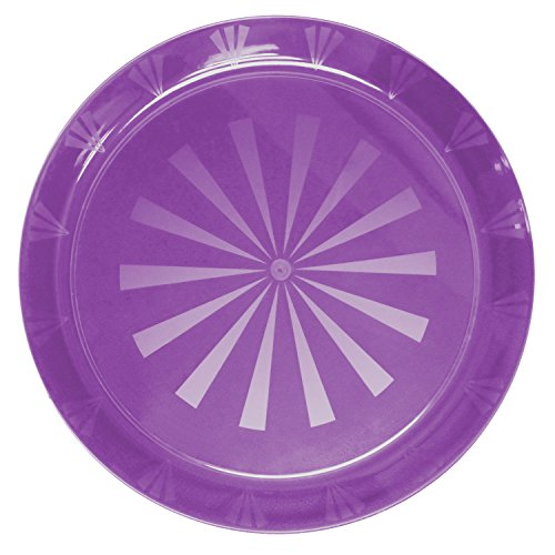 Party Essentials Hard Plastic 16-Inch Round Serving Tray, Purple , Single Unit (Serving Round Purple Plate)