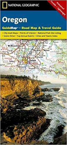 Oregon National Geographic Guide Map National Geographic Maps - Oregon road maps