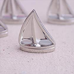 20 PCS Shining Sails Boat Silver Place Card Holder Wedding Favors Table Holder