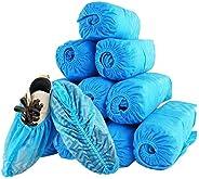 ROMEDIX Disposable 100 Pack (50 Pairs) Shoe Covers Non Slip,Blue Non Woven Shoes Covers,Indoor Hygiene Shoe Co