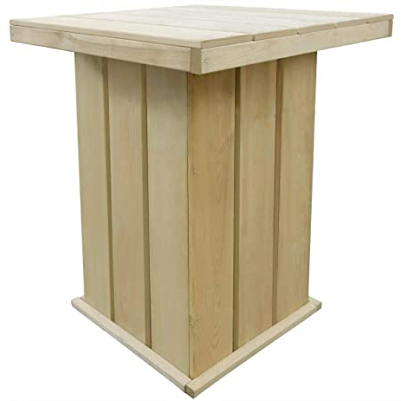 vidaXL Table de Bar d\'Extérieur FSC Table Haute Bistro ...