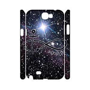 Diy Beautiful Infinity Anchor Phone Case for samsung galaxy note 2 3D Shell Phone JFLIFE(TM) [Pattern-1]