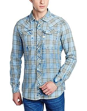 Men's Tacoma Shirt Long Sleeve Indigo